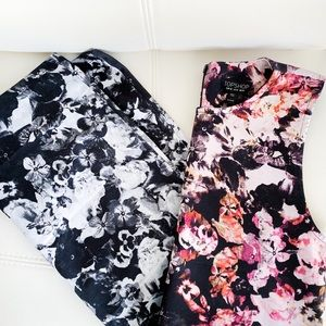 TopShop ❤️ EUC Floral Color Block Dress